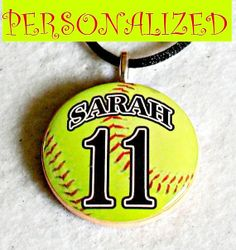Gift Ideas for Sports Teams | Players and Fans Love these Personalized Softball Necklace Pendants ...