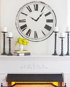 Ακόμα και αν δεν έχετε ένα ρολόι άξιο διακόσμησης, μπορείτε να σχεδιάσετε ένα μόνοι σας πάνω στον τοίχο.