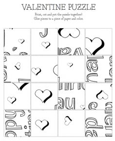 Print, color, and cut � and then assemble to read the secret message! | Valentine's Printables - Parenting.com