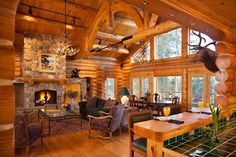 Wholesale Log Homes is the leading wholesale provider of logs for building log homes and log cabins. Log Cabin Kits and Log Home Kits delivered to you. Log Cabin Living, Log Cabin Homes, Log Cabins, Mountain Cabins, Timber Frame Homes, Timber House, Timber Frames, Log Home Kits, Log Home Decorating