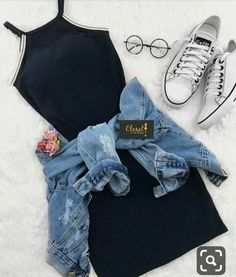 Outfits como chamarra de mezclilla…👗👑 - Oven Tutorial and Ideas Tumblr Outfits, Swag Outfits, Cute Casual Outfits, Cute Summer Outfits, Mode Outfits, Pretty Outfits, Stylish Outfits, Casual Summer, Tumblr Clothes