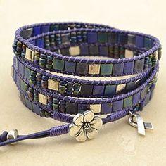 Mosaic 4 Wrap- Blue Ribbon – Beadshop.com