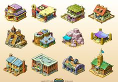 Set of graphics and assets from New Rock City social game on which I was working from 2012