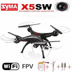 Original Syma X5sw Rc Quadcopter With Camera Fpv Drone Headless 6-axis Real Time Rc Helicopter Wifi Quadcopter Toys For Children #Affiliate
