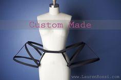 Custom Cage skirt-  Basic.  Black OR White. Pannier