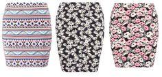 Even&odd Minifalda Black Coral vestidos y faldas Minifalda Even&Odd coral black Noe.Moda