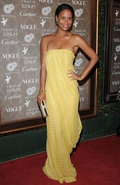 Joy Bryant Formal Gowns, Strapless Dress Formal, Prom Dresses, Joy Bryant, Beautiful Evening Gowns, Dream Prom, Mellow Yellow, Missoni, Vogue