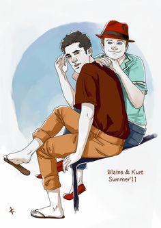 Glee FanArt: Klaine Summer'11  by *NinaKask  Fan Art / Digital Art / Drawings / Movies & TV
