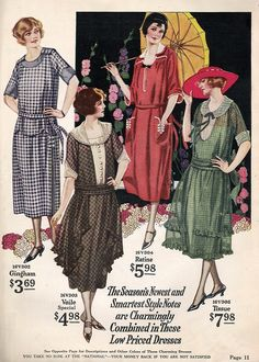 1922 day dresses from Vintage Dancer. Click to enlarge, it is huge!