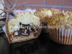 Muffin alle Mandorle con cuore morbido di Cioccolato   http://www.latavolozzadeisapori.it/ricette/muffin-alle-mandorle-con-cuore-morbido-di-cioccolato