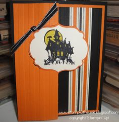 Stampin' Up! 'Best of Halloween'- haunted house flip card