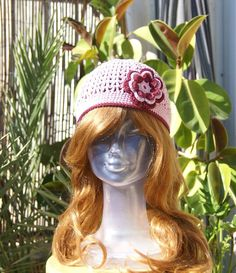 Handmade crocheted hat with flower from very by MotivesAndPatterns, $34.50