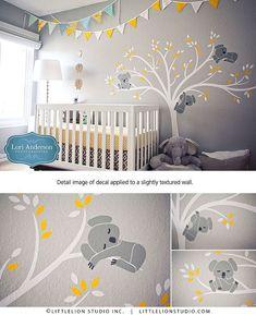 Relooking et décoration Image Description Autocollant mural Koala arbre mural autocollant bébé moderne chambre d'enfant Décor … Plus