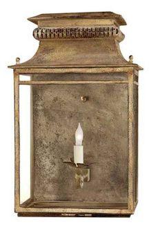 "Suzanne Kasler for Circa Lighting | Flea Market Lantern | gilded iron | 18""h x 11.5""w x 7""ext | 1x 60w | $475.00"