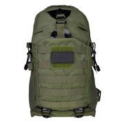 40L Military Style Surplus Backpack with Big Capacity - Fully adjustable contoured military style padded shoulder surplus straps with hard plastic D-rings for attachments. Molle webbing throughout for attaching additional pouches or backpacks.