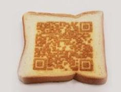 Laser Cookery :: A new technology in kitchen prep.accurate enough to burn a QR code into your morning toast that when scanned would tell you the days weather, morning traffic, etc.but I wonder how it tastes! Science Tools Foldable, Tostadas, Laser Art, Toast, Prep Kitchen, Good Enough To Eat, Oven Recipes, Qr Codes, Science And Technology