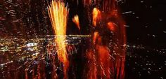 Screen capture 1/3: #Fireworks as filmed from a #drone. This awesome video has gone viral, as well it should—it's magnificent! Watch it here: http://youtu.be/a9KZ3jgbbmI