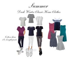 """""""Dark Winter Classic Home Clothes (Summer)"""" by talkjulya on Polyvore"""