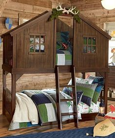 Love this boys' bunkbed!