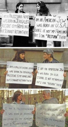 Palestinian Arab and American-born Jew protesting Zionism together, for three generations.