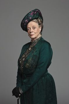 Maggie Smith as Violet, the Dowager Countess of Grantham on Downton Abbey.