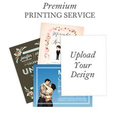 Wedding Paper Divas | Uniquely Yours 5x7 - Professional Printing Service - Magnolia Press - White : Front