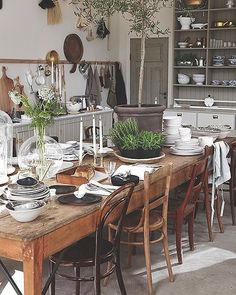 """369 Likes, 10 Comments - Lucy Rose (@birdie_farm) on Instagram: """"Hope everyone is having a nice day! I was searching for some inspiration for mixed wooden dining…"""""""