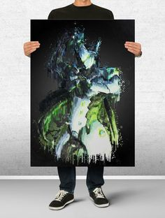 Genji Overwatch Poster Art Print Watercolor Wall Decor Game Print Poster Gift