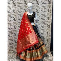 black banarasi silk wedding lehenga Bollywood Lehenga, Lehenga Choli, Bollywood Fashion, Georgette Fabric, Georgette Sarees, Silk Sarees, Indowestern Saree, Lace Saree, Indian Wedding Wear