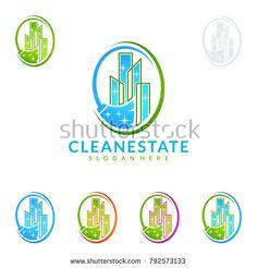 Cleaning Service vector Logo design, Eco Friendly Concept for Interior, Home and Building Cleaning Service Logo, Cleaning Business Cards, Building Cleaning Services, Vector Logo Design, Royalty Free Stock Photos, Company Logo, Logos, Vectors, Eco Friendly
