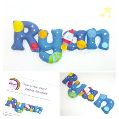 Sew your own Space felt name banner kit PER LETTER - The Supermums Craft Fair