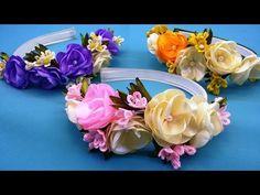 Spring hairband.DIY/Banda de pelo de primavera/Весенний ободок для волос.МК - YouTube