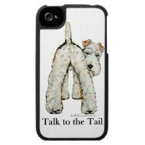 Wire Fox Terrier Tail Iphone 4 Covers