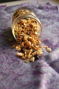 A quick and healthy snack: Blueberry Almond White Chocolate Granola