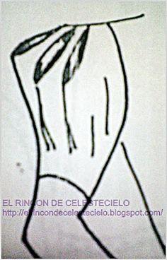 El Rincon De Celestecielo: Patrones para otros tipos de mangas cortas fruncidas en copa y puño liso o fruncido