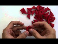 Valentines day gift~ 3D Origami Heart Vase - YouTube
