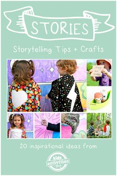20 storytelling crafts and tips - pinning this for bedtime ideas!