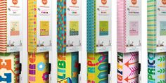 When it came to the packaging, it needed to be clean and uncluttered allowing the consumer to see the dense colorful patterns of the product.