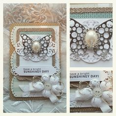 Card made og PL cards. How-to video and details on my blog #blomsterbox #cardmaking #video #spellbinders