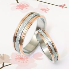 US Men Women Rose Gold Wedding Titanium Rings Sz4-16 GM030