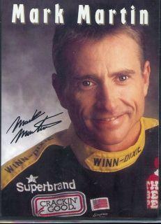 1995 Mark Martin 60 Winn Dixie Sponsor NASCAR Postcard