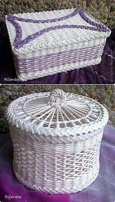 плетение из газет.