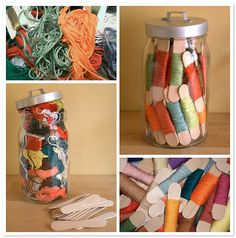 Taming the Floss by PatchworkPottery, via Flickr