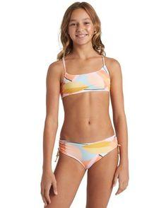 Girls' Me N You Hanky Tie Y2082BME | Billabong Little Girl Swimsuits, Bikini Girls, High Neck Bikini Set, Billabong Girls, Sporty Bikini, Swim Sets, Girls Swimming, Mädchen In Bikinis, Kids Swimwear