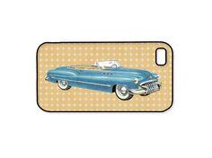 Men's Vintage Car iPhone Case - 1950's Blue Buick Convertible