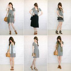 "6 ways to wear your striped dress // Un-fancy (Austin ""capsule wardrobe"" blogger)"