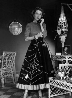 love the spider web skirt...love the jewelry....