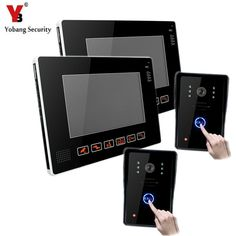 """YobangSecurity 9"""" Video Audio Intercom Doorbell Video Door Phone Bell Access Control 2 Camera 2 Monitor for Home Security System"""