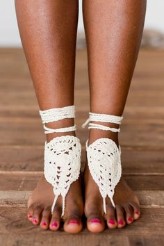 Cream Barefoot Sandals Accessories by Treeoflife Boho Accessories, Bare Foot Sandals, Barefoot, Boho Fashion, Peep Toe, Cream, Heels, Inspiration, Life