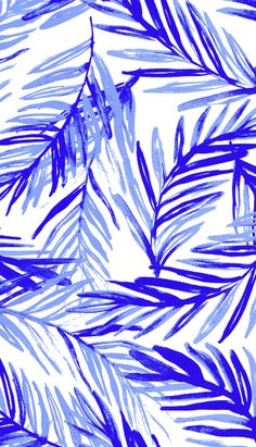Palm leafs pattern by susanna nousiainen #pattern #palmleaf #surfacedesign #patterndesigner